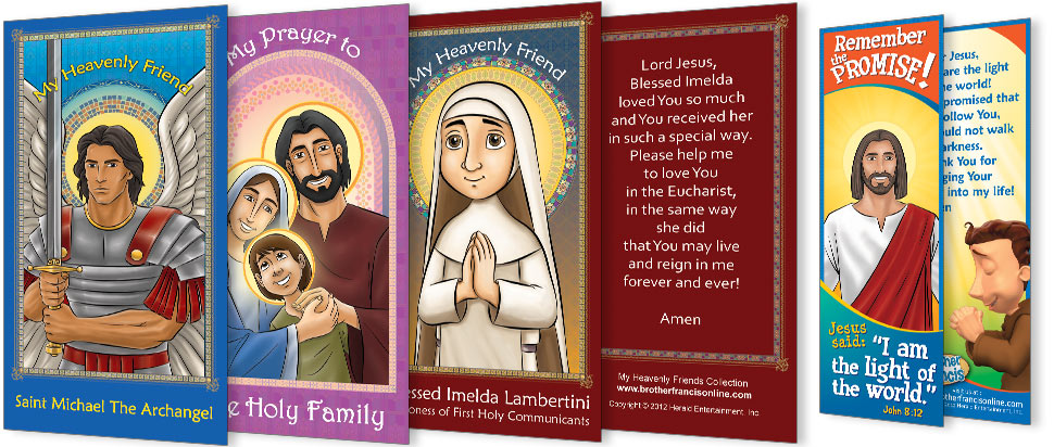 Catholic Prayer Cards and Bookmarks for Kids