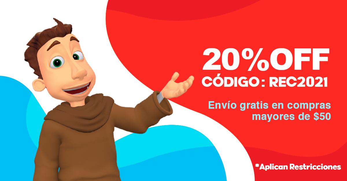 20% off con codigo REC2021, envio gratis en compras mayores de $50